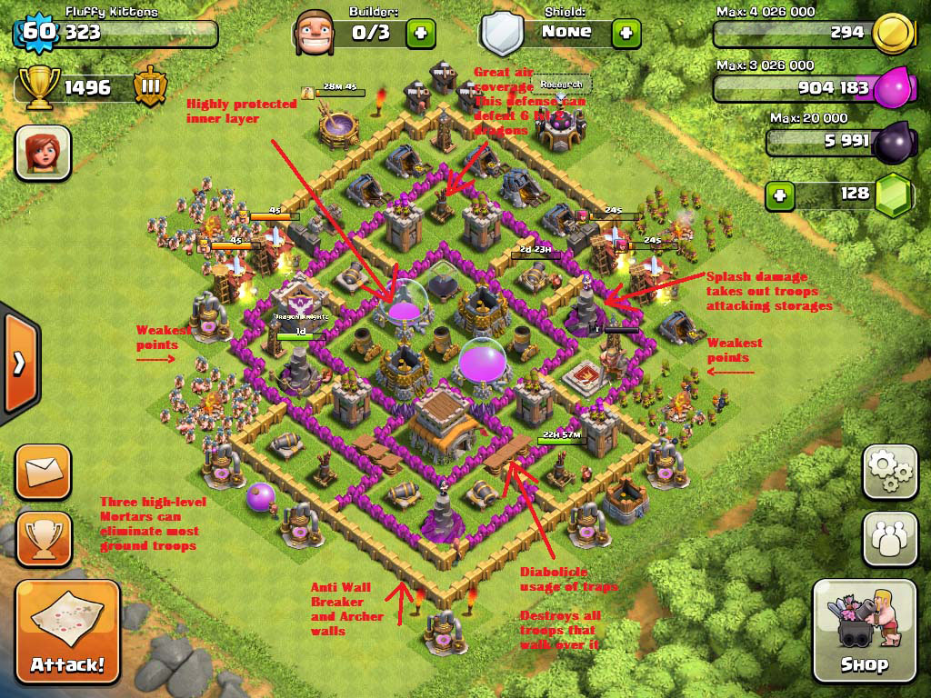 TOWNHALL 8 ( war and farming) | Clash of clans bangladesh ...